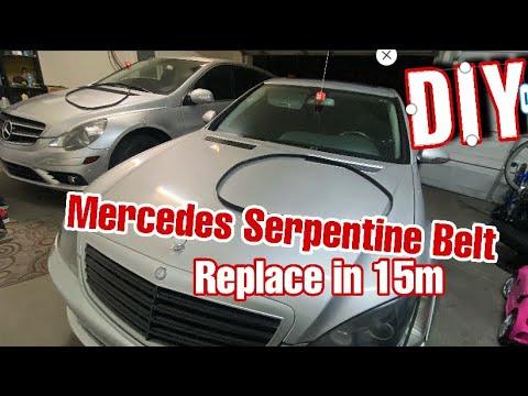 DIY MERCEDES Repair DIY REPLACE SERPENTINE  BELT )) 3.5L ,5.5L, 5.0L Engines