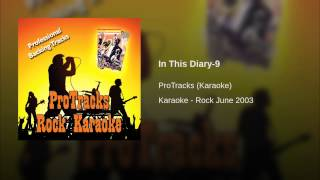 In This Diary-9 (In the Style of the Ataris) (Karaoke Version Instrumental Only)