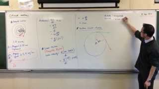 Uniform Circular Motion - Direction of Acceleration (1 of 2: Adding Vectors Visually)