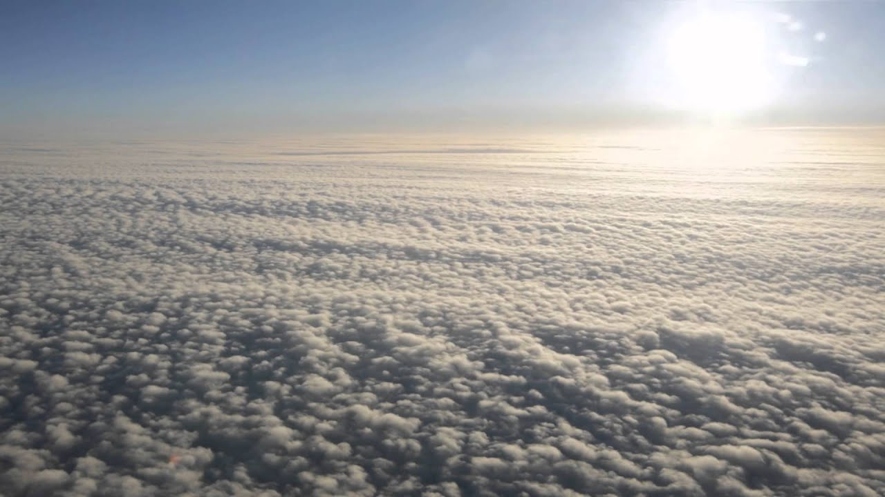 Clouds from Airplane - YouTube