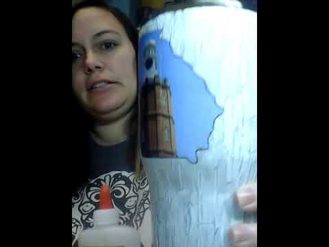 Wood grain destressed tumbler diy crackle tumbler