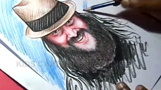 How to Draw WWE Superstar Bray Wyatt Color Drawing