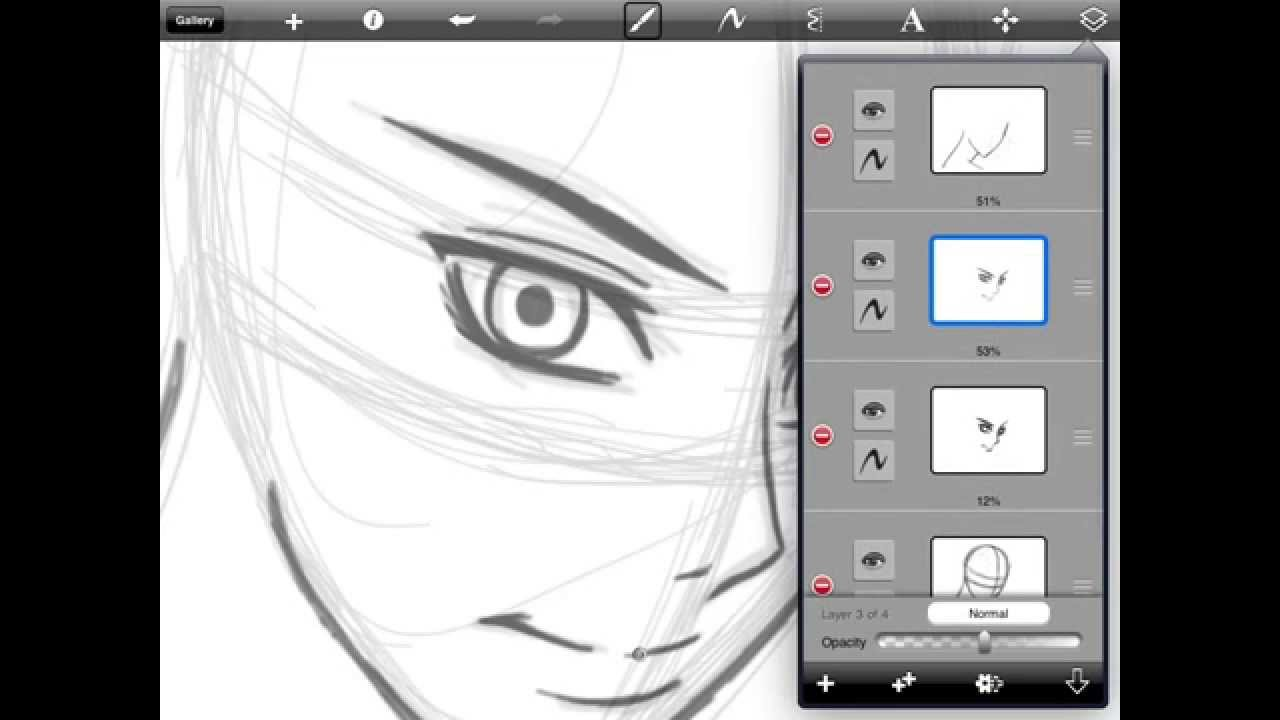 How To Draw Anime Faces For Ipad Tutorial Part 1 Youtube