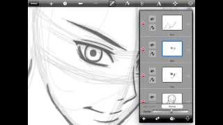 How To Draw Anime Faces for IPAD- Tutorial part 1