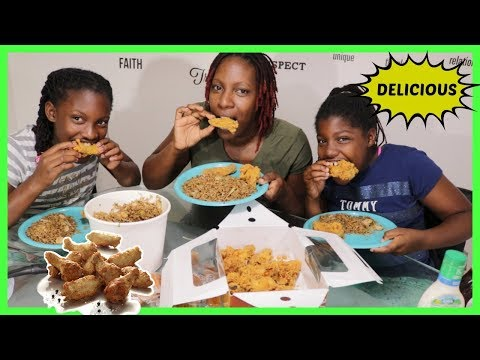CHINESE SHRIMP FRIED RICE WITH CHICKEN WINGS MUKBANG