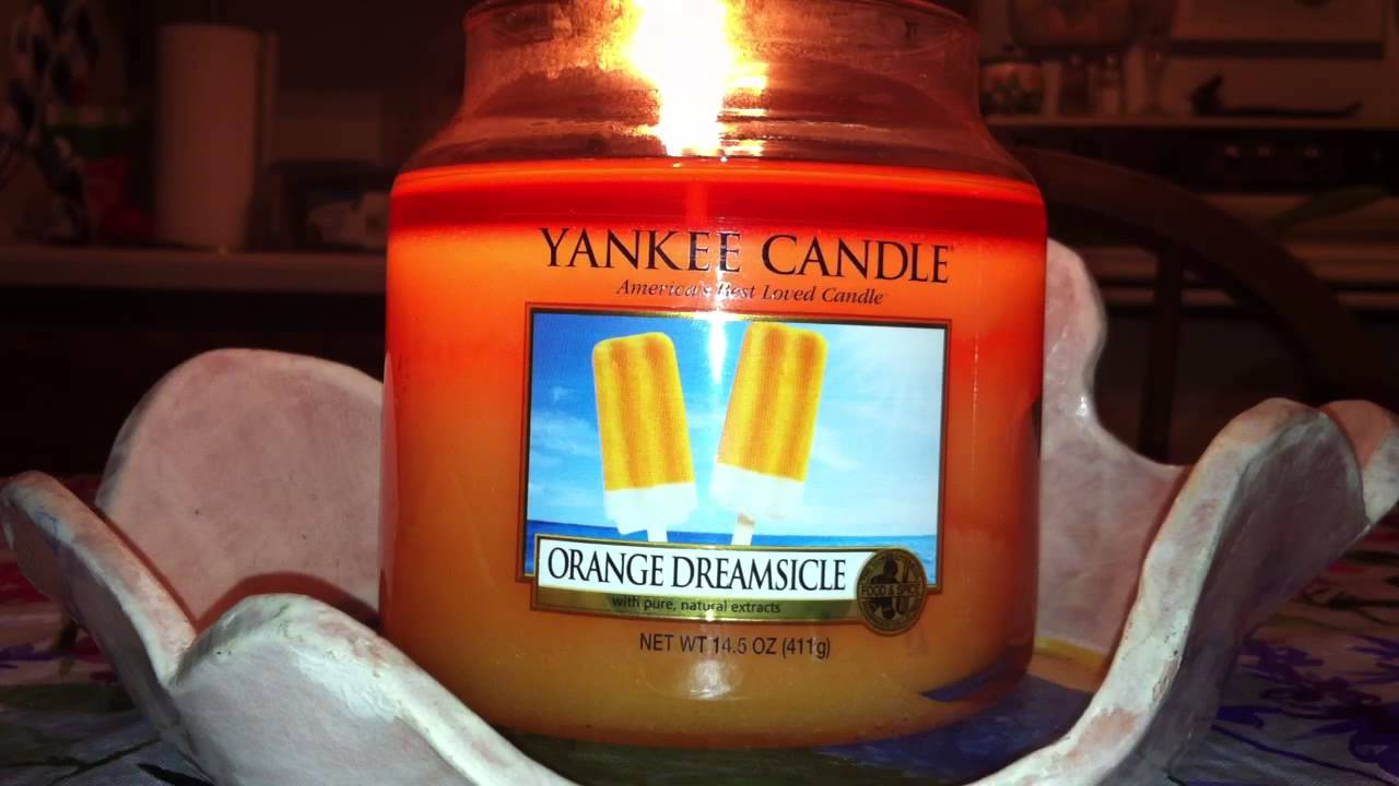 Yankee Candle Orange Dreamcicile Review - YouTube
