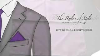 6 способов сложить нагрудный платок.