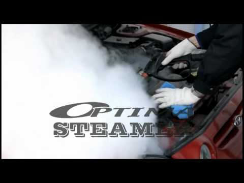 Cleaning car engine bay area(engine compartment/under the hood) - Optima Steamer