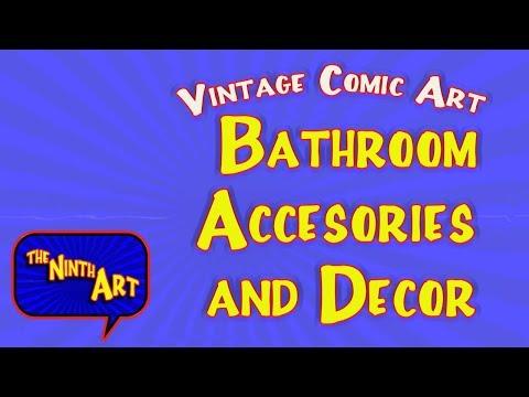 Vintage Comic Bathroom Decor