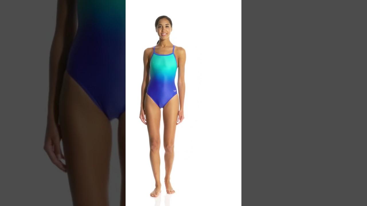 3ec8909bb1 Speedo Women's PowerFLEX Eco Ombre Flyback One Piece Swimsuit |  SwimOutlet.com