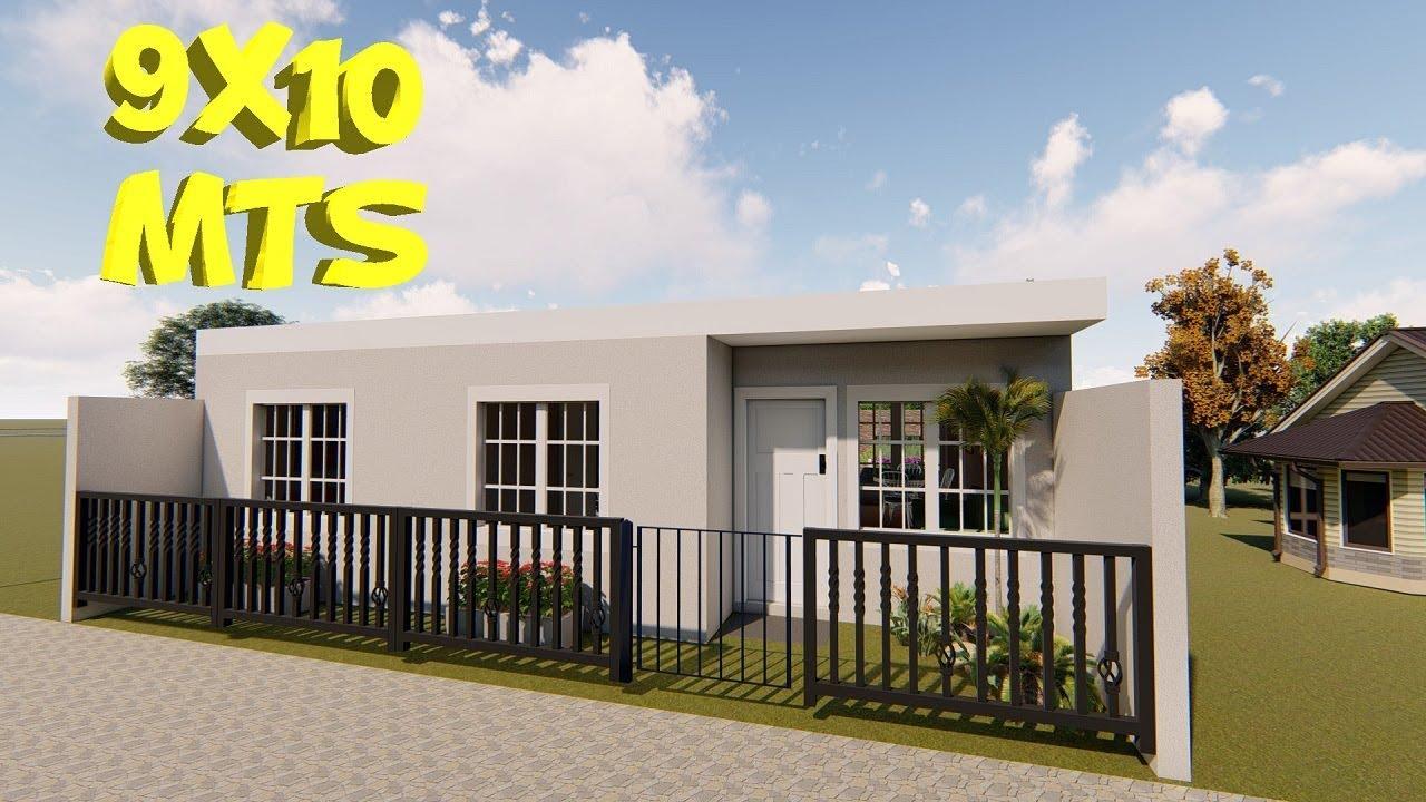 Casa para terreno de 9x10 metros 9 x 10 house plans - Terreno con casa ...