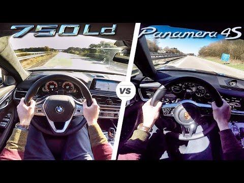 BMW 7 Series 750d vs Porsche Panamera 4S Diesel 0-250 km/h ACCELERATION & AUTOBAHN POV by AutoTopNL