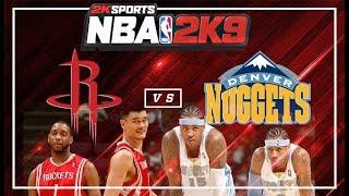 NBA 2K9 : Houston Rockets vs. Denver Nuggets | 4K 60fps | PC Gameplay