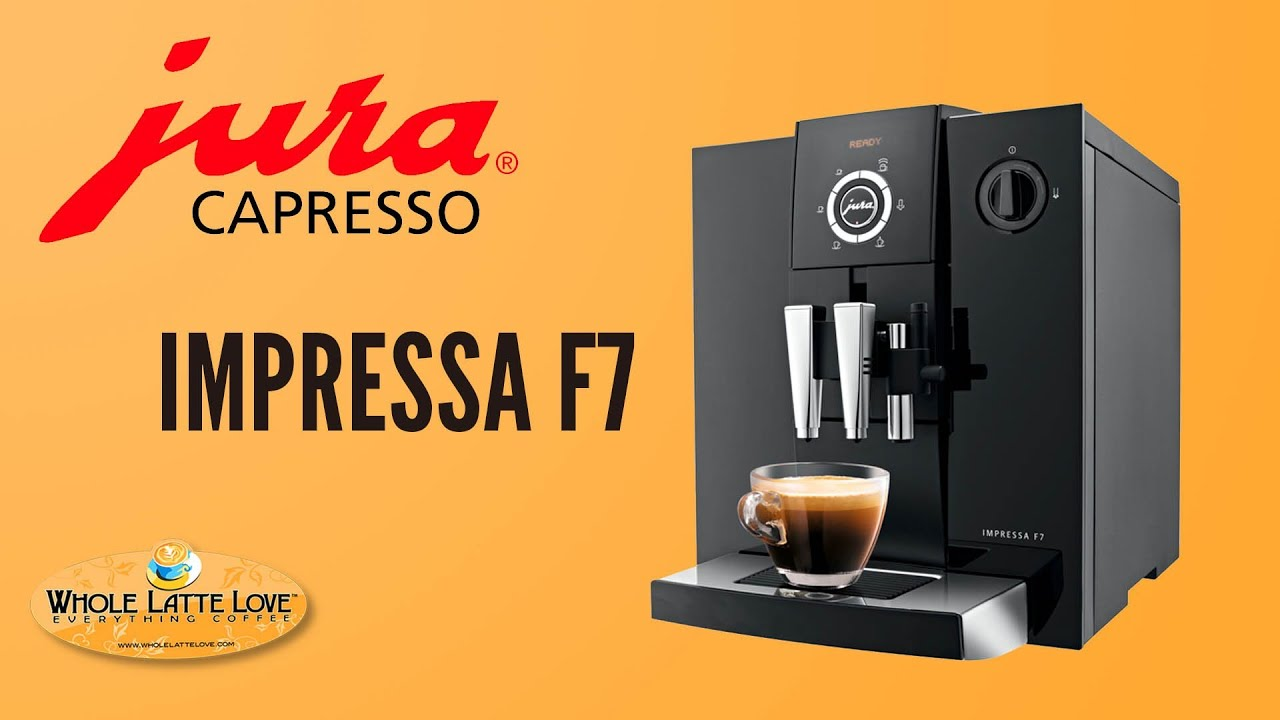 jura capresso impressa f7 super automatic espresso machine youtube. Black Bedroom Furniture Sets. Home Design Ideas