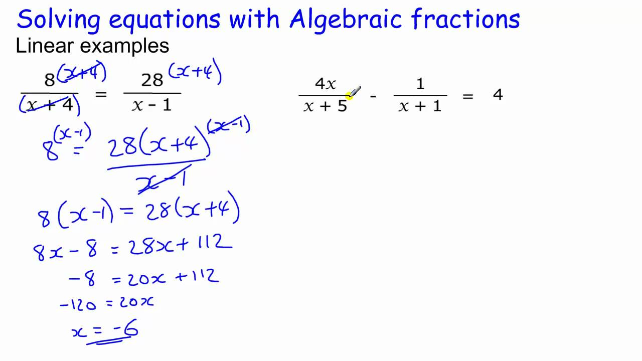 math worksheet : algebraic equations gcse maths  the best and most comprehensive  : Gcse Fractions Worksheets