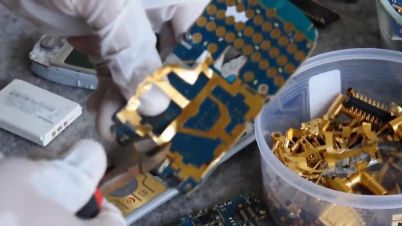 Добыча золота из компьютерных плат