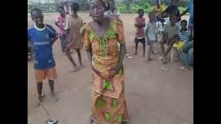 African Grandma dancing like crazy