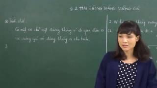 2 - Hai duong thang vuong goc (Toan 7)