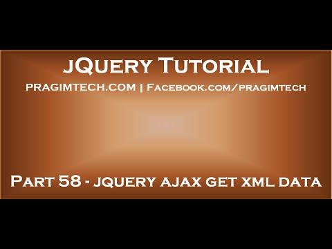 jquery ajax get xml data