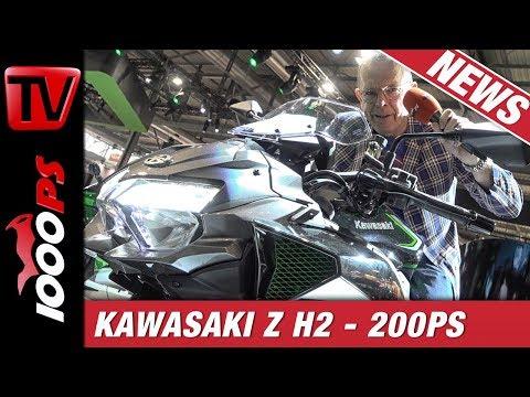 Kawasaki Z H2 First Look auf der EICMA - Kompressor Nakedbike - Was dürfen wir uns erwarten?