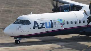 Pouso e Decolagem em Joinville - ATR - 72-600 AZUL - (PR-AQI) 15/06/2019