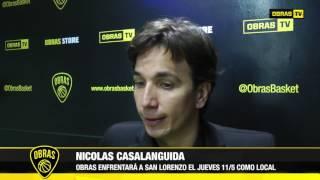 Nicolás Casalánguida Post Obras Basket 79-90 Quilmes (4-5-2017)