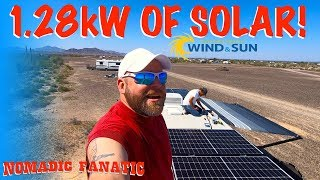 1280 Watts of Solar on RV Roof & Water Update