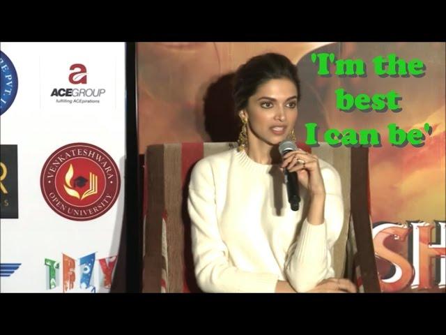Motivational Speech from Deepika Padukone interview