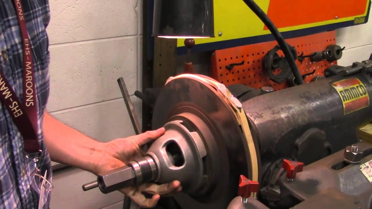 Ammco Brake Lathe >> Ammco Brake Lathe Rotor Youtube