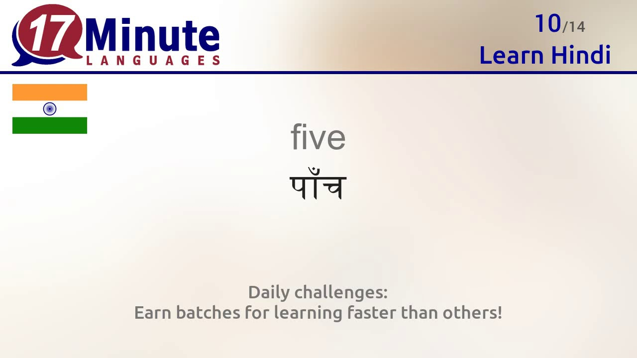 Learn the 30 most important words in Hindi!
