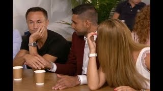 Amir Khan, Dennis Wise and Rebekah Vardy shake hands after Iain Lee loses out on jungle victory
