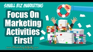 Why You Should Focus On Marketing Activities First and THEN Results