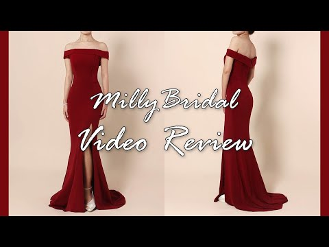 evening-dresses-|-cheap-long-jersey-burgundy-formal-prom-dress-with-slit---millybridal-video-review