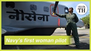 Indian Navy's first woman pilot takes her wings