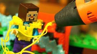 3Д Ручка и Лего НУБик Майнкрафт Мультики LEGO Minecraft - Видео Мультфильмы для Детей