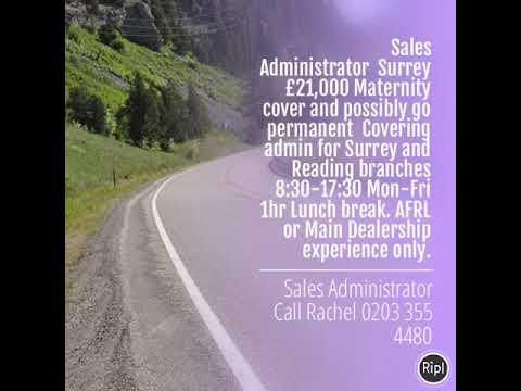 Sales Administrator Surrey