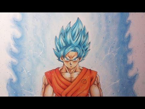 Gohan Wallpaper 3d Drawing Goku Super Saiyan Blue Youtube