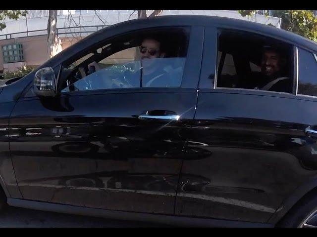 Riding past Alejandro, Pedro, and Farshad
