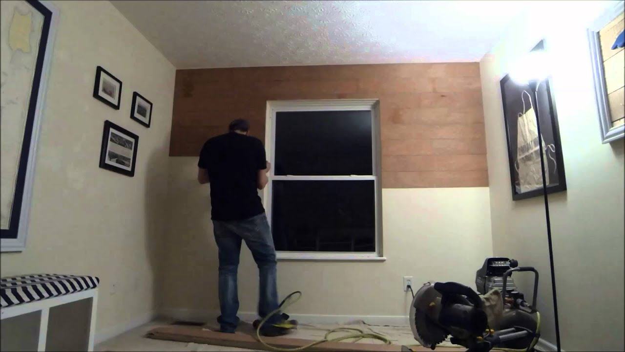 Diy Shiplap Wall How To Install Shiplap Timelapse