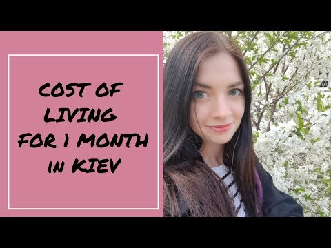 Cost of living in Ukraine, Kiev for 1 month