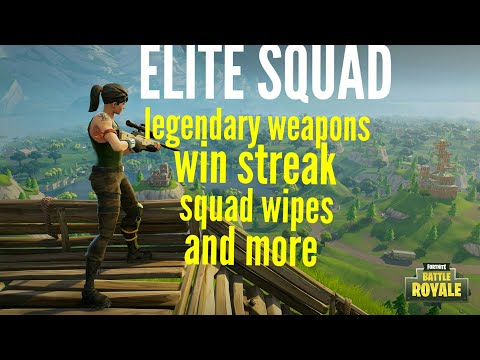 FORTNITE BATTLE ROYALE - ELITE SQUADS PvP ( Win streak )