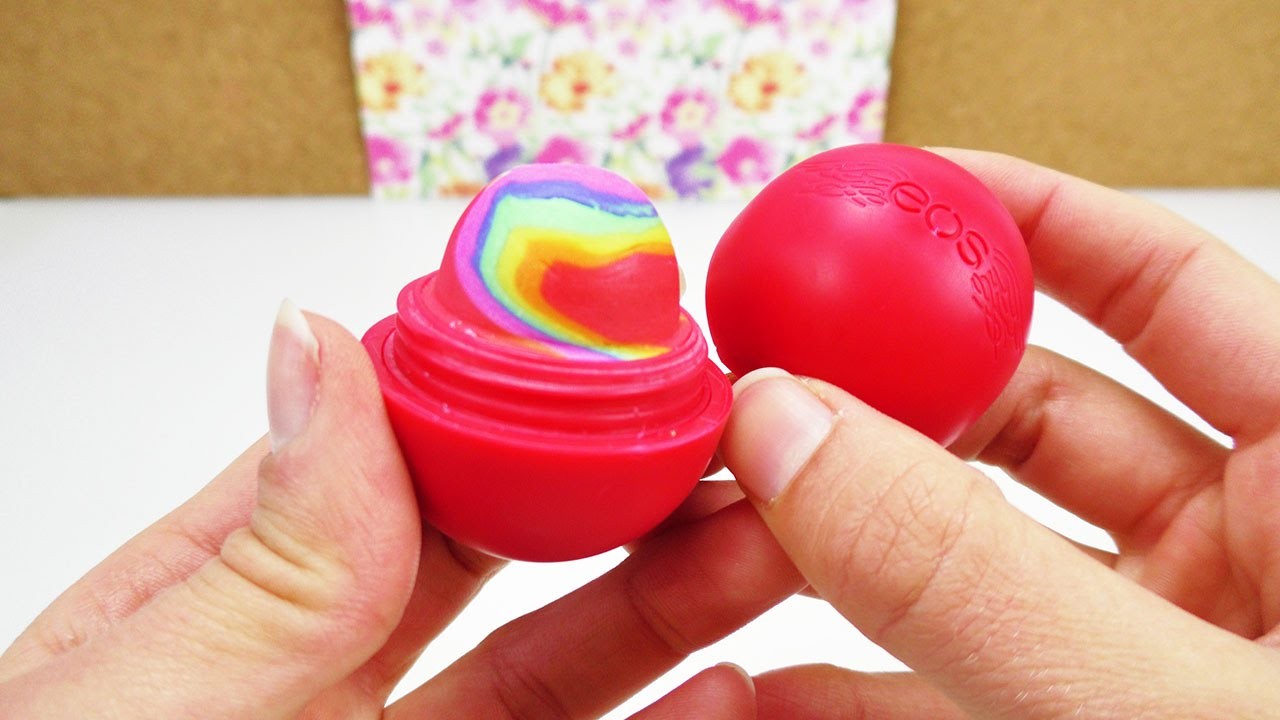 eos lipbalm diy rainbow radiergummi radierer mit. Black Bedroom Furniture Sets. Home Design Ideas