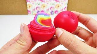 EOS Lipbalm DIY Rainbow Radiergummi | Radierer mit Regenbogen Farben selber machen