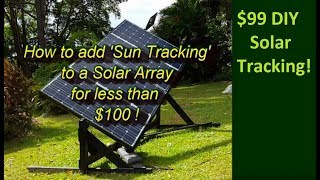 Auto Sun Tracking for Solar Panels - $99