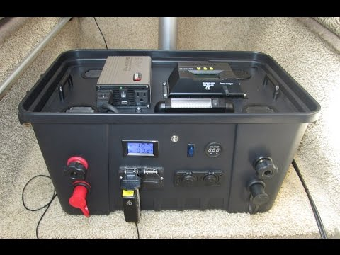 10000 Inverter Wiring Diagram Diy Portable Solar Power Generator Part 1 Youtube