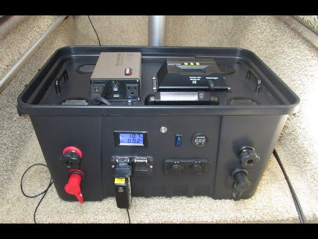 diy portable solar power generator part 1  wiring schematic