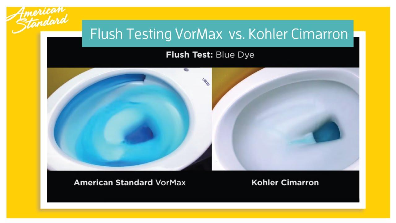 American Standard Vormax Toilet Vs Kohler Cimarron Kohler Cimarron American Standard One Piece Toilets