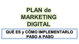 Plan de Marketing Digital para tener Exito