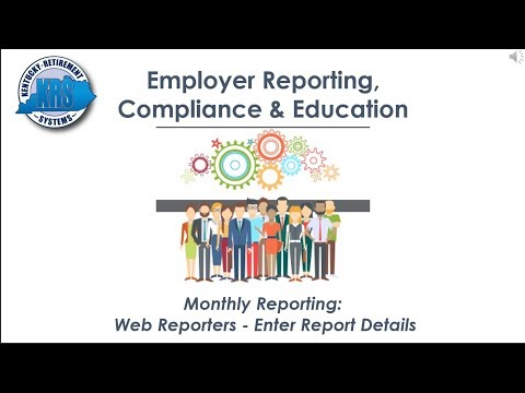 KRS Employer Reporting Official Video (Section 2b) Web Monthly Report Process