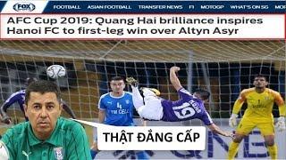 Báo Châu Á, HLV Altyn Asry khen ngợi Quang Hải hết lời với Siêu Phẩm ở đẳng cấp cao - News Tube